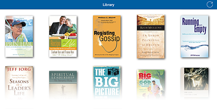 The library on Apple iPad