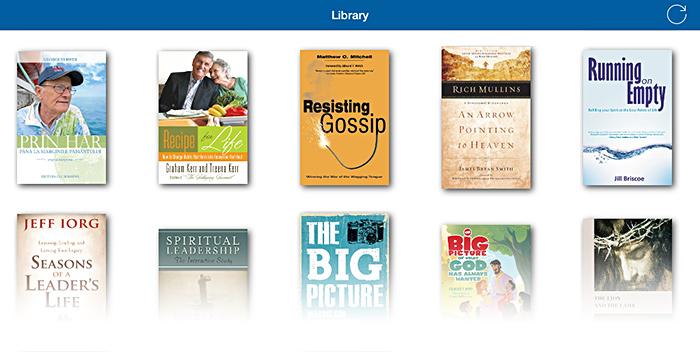 The library on Apple iPad