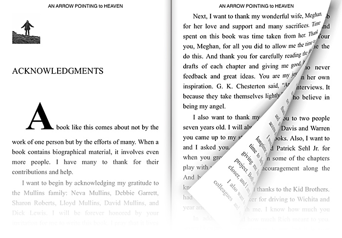 Reading on the iPad in landscape mode
